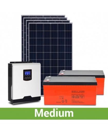"""Солнечная электростанция для дачи """"средняя"""", 4-5 кВт*ч, 110-150 кВт*ч/месяц"""