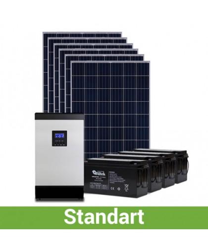 Стоимость солнечной электростанции для дома. Комплект 160-230 кВт*ч/месяц