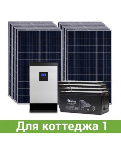 Солнечная электростанция для коттеджа, 18-20 кВт*ч в день, 500-650 кВт*ч/месяц